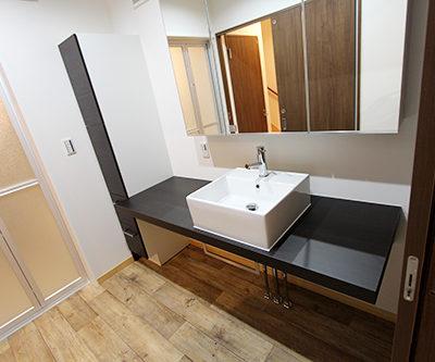 姫路市の注文住宅  素敵な洗面
