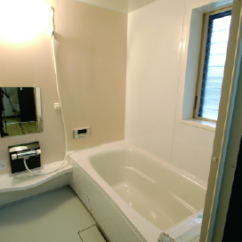 姫路市の無垢の家づくりのBath Room