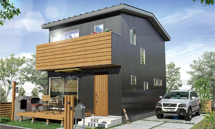 姫路市の無垢の家づくりのBOX-Style外観