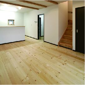 姫路市の無垢の家づくりのLiving Room