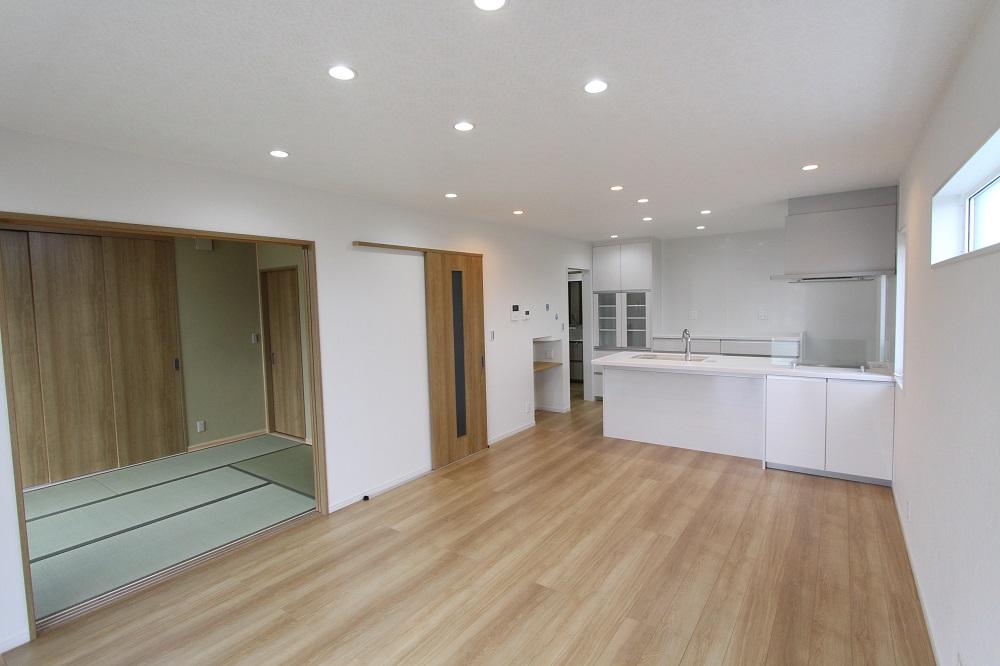 姫路市の注文住宅 広々リビングの家