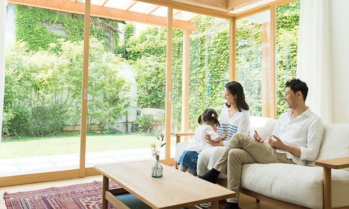 姫路市の木の家の自然空間