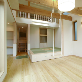 姫路市の無垢の家づくり・Living Room