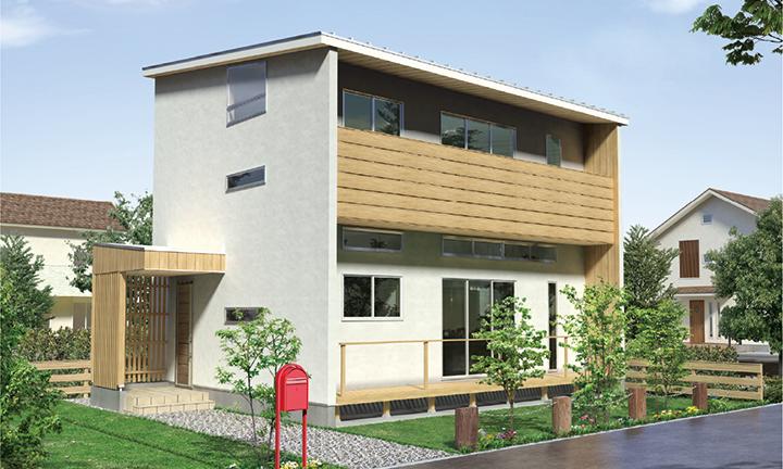 姫路市の無垢の家づくり・SKIP-Style外観
