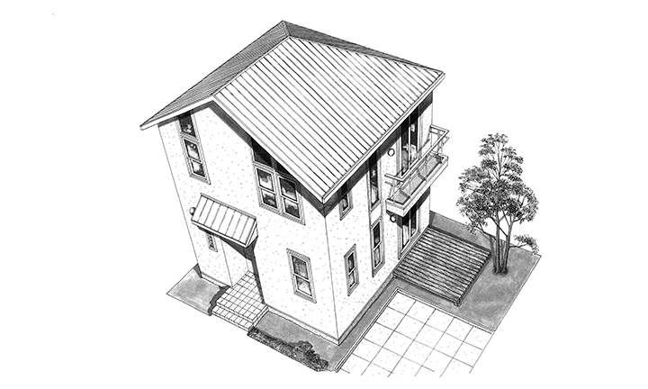姫路市のコストを抑えた総二階の家