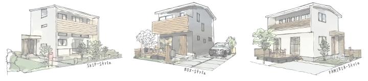 姫路市の無垢の家のイメージ画像①