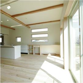 姫路市の無垢の家づくり、Living Room