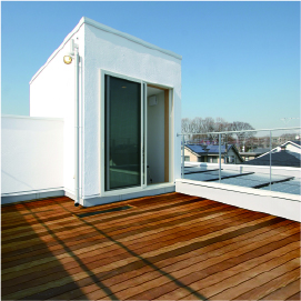 姫路市の無垢の家づくり、Roof Terrace